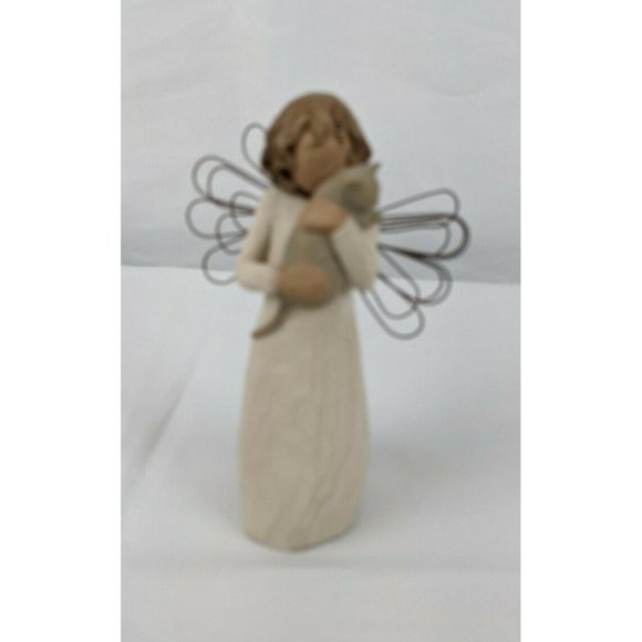 Willow Tree With Affection Figurine 26109 Angel Holding Cat 2003 NO BOX Cats